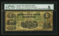 Canadian Currency: , Montreal, CE - The Mechanics Bank $4 June 1, 1872 Ch. # 430-10-04c....