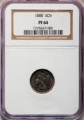 Proof Three Cent Nickels: , 1888 3CN PR64 NGC. NGC Census: (239/545). PCGS Population(361/594). Mintage: 4,582. Numismedia Wsl. Price for problemfree...