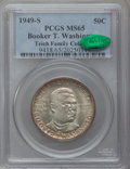 Commemorative Silver, 1949-S 50C Booker T. Washington MS65 PCGS. CAC. EX: Teich FamilyCollection. PCGS Population (715/424). NGC Census: (287/40...