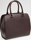 Luxury Accessories:Bags, Louis Vuitton Mocha Epi Leather Pont-Neuf Top Handle Bag. ...