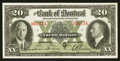 Canadian Currency: , Montreal, PQ - The Bank of Montreal $20 Jan. 2, 1935 Ch. #505-60-06. ...