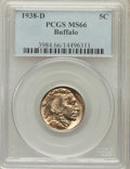 Buffalo Nickels: , 1938-D 5C MS66 PCGS. PCGS Population (27827/1582). NGC Census:(19369/1928). Mintage: 7,020,000. Numismedia Wsl. Price for ...
