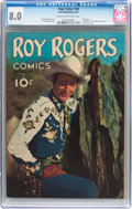 Golden Age (1938-1955):Western, Four Color #38 Roy Rogers (Dell, 1944) CGC VF 8.0 Cream tooff-white pages....