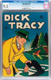 Four Color #56 Dick Tracy (Dell, 1944) CGC NM- 9.2 Cream to off-white pages