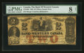 Canadian Currency: , Clifton, CW - The Bank of Western Canada $2 Sep. 20, 1859 Ch. #795-10-08. ...