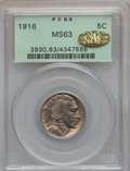 Buffalo Nickels, 1916 5C MS63 PCGS. Gold CAC. PCGS Population (533/1624). NGCCensus: (330/1106). Mintage: 63,498,064. Numismedia Wsl. Price...