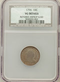 Early Dimes, 1796 10C -- Repaired, Improperly Cleaned -- NCS. VG Details. JR-1,R.3....