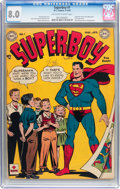 Golden Age (1938-1955):Superhero, Superboy #1 (DC, 1949) CGC VF 8.0 Off-white to white pages....