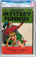 Golden Age (1938-1955):Science Fiction, Amazing Mystery Funnies V1#1 Billy Wright pedigree (Centaur, 1938)CGC VG+ 4.5 Off-white pages....
