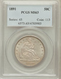 Seated Half Dollars: , 1891 50C MS63 PCGS. PCGS Population (38/76). NGC Census: (22/75).Mintage: 200,000. Numismedia Wsl. Price for problem free ...