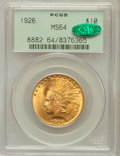 Indian Eagles, 1926 $10 MS64 PCGS. CAC....