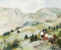 Fine Art - Painting, European:Other , JULES RENÉ HERVÉ (French, 1887-1981). In the Mountains. Oilon canvas. 9 x 10-3/4 inches (22.9 x 27.3 cm). Signed lower ...