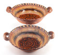 Other, A PAIR OF LARGE MEXICAN TERRA COTTA BOWLS . 20th century. 8-1/4 x27 x 22 inches (21.0 x 68.6 x 55.9 cm). FROM THE EDMUND ... (Total:2 Items)