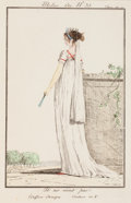 Prints:Old Master, FRENCH SCHOOL (Late 18th Century) . Three Costumes Parisiensprints, 1797. Hand colored etchings. 9-1/8 x 6-1/2 inches (...(Total: 3 Items)