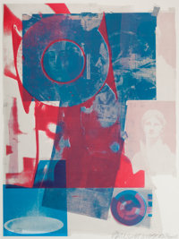 ROBERT RAUSCHENBERG (American, 1925-2008) Quarry, 1968 Color offset lithograph 32-1/2 x 24-1/2 in