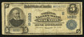 National Bank Notes:Virginia, Staunton, VA - $5 1902 Plain Back Fr. 599 The National Valley BankCh. # (S)1620. ...