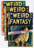 Golden Age (1938-1955):Science Fiction, Weird Fantasy Group (EC, 1950-51).... (Total: 3 Comic Books)