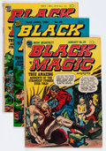 Golden Age (1938-1955):Horror, Black Magic Group (Prize, 1952-54) Condition: Average FR/GD....(Total: 5 Comic Books)