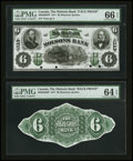 Canadian Currency: , Montreal, PQ- The Molsons Bank $6 Nov. 1, 1871 Ch # 490-20-02FP,UNL. ... (Total: 2 notes)