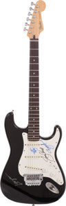 Musical Instruments:Electric Guitars, Alice In Chains Signed Fender Black Stratocaster....