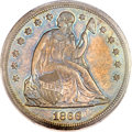 Seated Dollars, 1866 $1 Motto MS64+ PCGS....