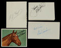 Miscellaneous Collectibles:General, 1970s Indy Racers Signed Card - Lot of 9. ...
