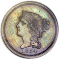 Patterns, 1854 P1C One Cent, Judd-161 Original, Pollock-187, R.4, PR63 Brown PCGS. CAC Gold Label....