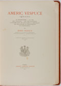 Books:Americana & American History, Henry Vignaud. Americ Vespuce 1451-1512. Paris, 1917. Firstedition. French text. Modern leather binding. Very g...