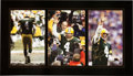 Football Collectibles:Photos, Brett Favre Signed Oversized Photograph Collage Prints Lot of 5....