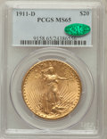 Saint-Gaudens Double Eagles: , 1911-D $20 MS65 PCGS. CAC. PCGS Population (1808/481). NGC Census:(1905/533). Mintage: 846,500. Numismedia Wsl. Price for ...
