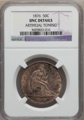 Seated Half Dollars: , 1876 50C -- Artificial Toning -- NGC Details. Unc. NGC Census:(0/170). PCGS Population (8/208). Mintage: 8,419,150. Numism...