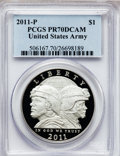 Modern Issues, 2011-P $1 U.S. Army PR70 Deep Cameo PCGS. PCGS Population (174).NGC Census: (0). Numismedia Wsl. Price for problem free N...