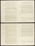 Baseball Collectibles:Others, 1950 Dan Bankhead Signed Brooklyn Dodgers Contract - Lot of 2 Both Signed by Branch Rickey. ...
