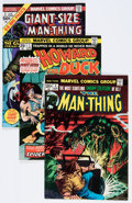 Bronze Age (1970-1979):Horror, Man-Thing/Howard the Duck Group (Marvel, 1974-76) Condition:Average VF+.... (Total: 15 Comic Books)