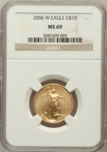 Modern Bullion Coins, 2006-W $10 Quarter-Ounce Gold Eagle MS69 NGC. NGC Census:(3966/4343). PCGS Population (4501/1230). Numismedia Wsl. Price ...