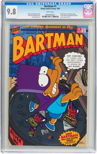 Bartman #1 (Bongo Comics Group, 1993) CGC NM/MT 9.8 White pages