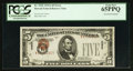 Error Notes:Major Errors, Fr. 2302 $5 1934A Hawaii Federal Reserve Note. PCGS Gem New 65PPQ.....