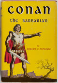 Books:Science Fiction & Fantasy, Robert E. Howard. Conan the Barbarian. Gnome Press, 1954. First edition. Publisher's cloth and dust jacket. Pages moderately...