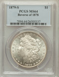 Morgan Dollars: , 1879-S $1 Reverse of 1878 MS64 PCGS. PCGS Population (523/48). NGCCensus: (267/18). Numismedia Wsl. Price for problem fre...