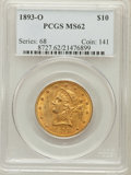 Liberty Eagles: , 1893-O $10 MS62 PCGS. PCGS Population (153/12). NGC Census:(88/11). Mintage: 17,000. Numismedia Wsl. Price for problem fre...
