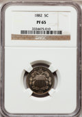 Proof Shield Nickels: , 1882 5C PR65 NGC. NGC Census: (284/264). PCGS Population (299/250).Mintage: 3,100. Numismedia Wsl. Price for problem free ...