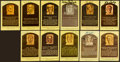 Baseball Collectibles:Others, Baseball Greats Signed Hall of Fame Plaque Postcards Lot of 11....