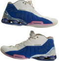 Basketball Collectibles:Others, Circa 2005 J.J. Redick Game Worn Signed Duke Shoes. ...