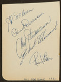 Baseball Collectibles:Others, 1961 All Star Signed Autograph Page With Clemente. ...