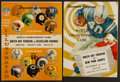 Football Collectibles:Programs, 1961 and 1965 NFL Championship Programs Lot of 2 - Packers Championships!...