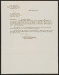 Baseball Collectibles:Others, 1947 Dan Bankhead Telegram and Cuban Baseball Letter Signed by MikeGonzalez. ...