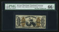 Fractional Currency:Third Issue, Fr. 1356 50¢ Third Issue Justice PMG Gem Uncirculated 66 EPQ.. ...
