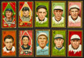 Baseball Cards:Lots, 1911 T205 Gold Borders Tobacco Collection (10) With Young. ...