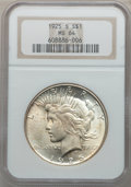 Peace Dollars: , 1925-S $1 MS64 NGC. NGC Census: (1623/63). PCGS Population(1726/36). Mintage: 1,610,000. Numismedia Wsl. Price for problem...