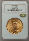 Saint-Gaudens Double Eagles, 1927 $20 MS63 NGC. CAC Gold Label....